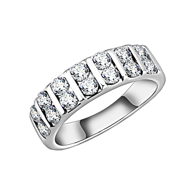 Monroe - A Classic Women's Stainless Steel CZ Ring