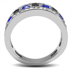 Muriel - Women's Stainless Steel Statement Band with Sapphire CZ Stones