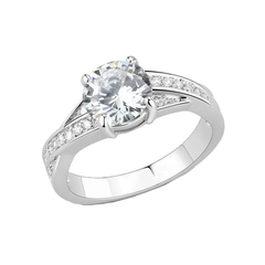 My Girl - A Sparkling AAA Grade Cubic Zirconia Stainless Steel Ring with a 1.75 CT. Eq Stone