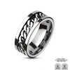 Optimum - Gray Streak Tough Looking Spinner Chain Stainless Steel Band