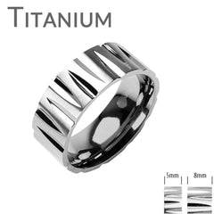 Paradox - FINAL SALE Trendy Stylish Titanium Faced Cuts Comfort Fit Band