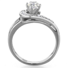 Priscilla - An Elegant Women's Stainless Steel Ring with AAA Grade Clear CZ Stones