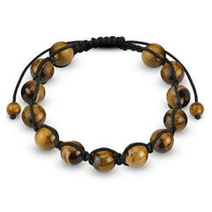 Tiger Eye - Detailed Round Bead Shambhala Bracelet