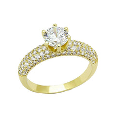 My Queen - Gold Plated Brass CZ Women's Ring