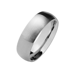 Matte Romance 6mm -  Matte Finish Dome Stainless Steel Band