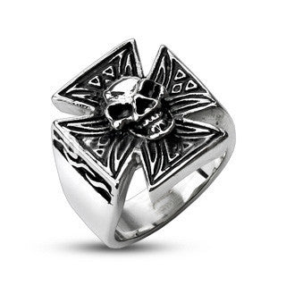 Iron Skull - Rock-Star Design Stainless Steel Adventures Ring