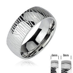 Silver Tiger - Bold and Powerful Look Stainless Steel Natural Design Ring