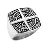 Voyager - Men's Compass Cross Center Stainless Steel Statement Ring
