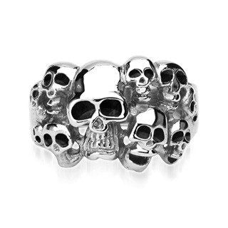 Skullduggery - FINAL SALE Extreme Craftwork Black and Stainless Steel Clear Piece Of Artwork Band