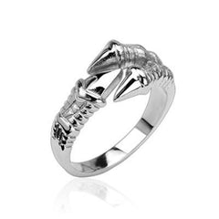The Claw – Silver stainless steel eagle talons men's ring