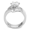 Renée - Women's Art Deco Stacking AAA Grade Clear CZ Stainless Steel Ring Set