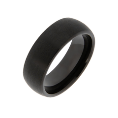 Rockout - Men's 8mm Matte Black Tungsten Ring