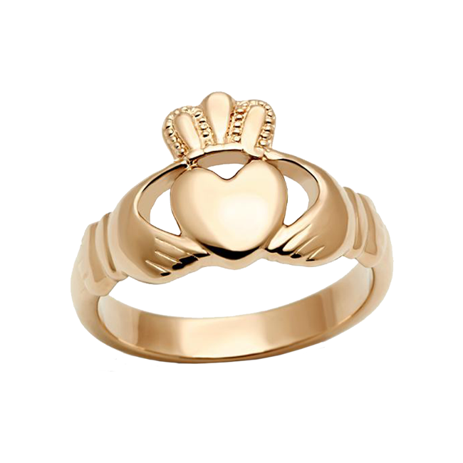 Rose Gold Claddagh - Rose Gold Stainless Steel Traditional Irish Ring Design