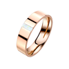 Rose Pearl - Women's Rose Gold Stainless Steel Ring with Opal Stone