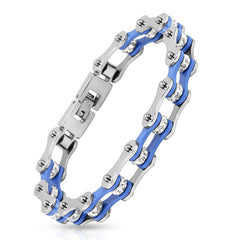 In Gear - Stainless Steel Motorcycle Chain With Blue Ion Plating