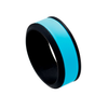 Aqua Layer - Men's 8mm Black Silicone Ring with Aqua Center