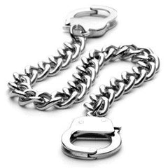 Under Arrest Bracelet - Fun novelty silver stainless steel handcuff design bracelet