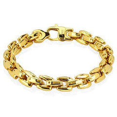 Hypnotic Gold - Dashing Gold IP Linked Stainless Steel Bracelet