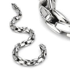 Snake Charmer - Designed Like Scales On Serpent Stainless Steel Unique Style Bracelet