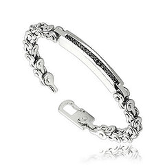 Black 'n' Roll - Bicycle Chain Style Black and Stainless Steel Bracelet