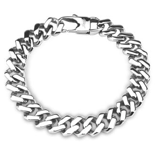 Perseverance - Men's Stainless Steel Square Link Bracelet