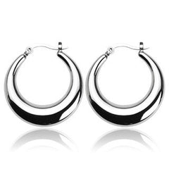 Crescent Moon - Smooth Design Stainless Steel Delicate Earrings