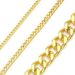 Gold Coast - Glossy Rich Look with Attitude Anodized Gold Stainless Steel Chain Necklace