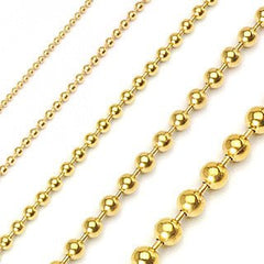 On The Ball Gold - Uniquely Designed Gold Ball Stainless Steel Cute Looking Necklace