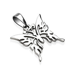 Flutterby - Nature Inspired Beautifully Crafted Stainless Steel Butterfly Pendant