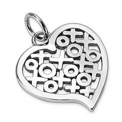 Hugs and Kisses - Heart with XOXO Stainless Steel Lovely Design Pendant