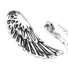 Freedom to Fly - Silver Wings Stainless Steel Classic Pendant