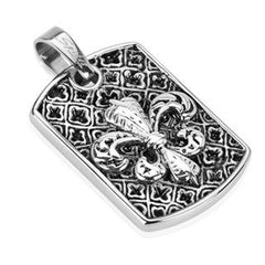 Fleur De Love - Stylized Lily Stainless Steel Decorative Design Pendant