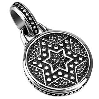 David Coin - Stainless Steel Star of David Pendant