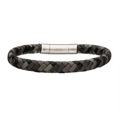 Shades of Grey - Men's Leather Braided Bracelet