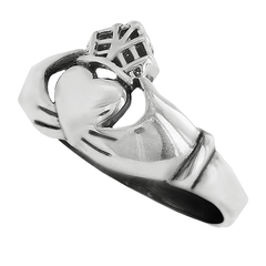 Claddagh Ring - FINAL SALE Traditional Irish Sterling Silver Both Meaningful and Beautiful Wedding Ring