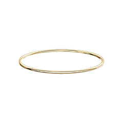 Simply Gold Bangle - Simple Stainless Steel IP Bangle Bracelet