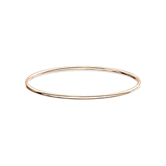 Simply Rose Gold Bangle - Simple Stainless Steel IP Bangle Bracelet