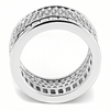 Stardust - A Magnificent Women's Stainless Steel Rhodium Plated Ring with AAA Grade Clear CZ Stones