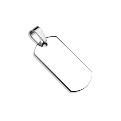Tagged in Steel - Small Stainless Steel Dog Tag Pendant