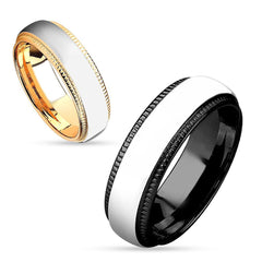 Steel Made Love - Two Tone IP Stainless Steel Couples Ring
