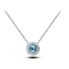 Summer Shine - Silver Plated Blue Crystal Necklace