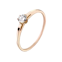 Sweet Blush - Women's Rose Gold Stainless Steel CZ Ring