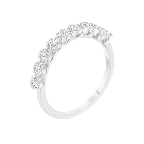 Sweet Harmony - Women's Rhodium Plated AAA Grade Clear CZ Band