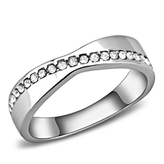 Only Yours - Women's Stainless Steel Ring High Polished No Plating Clear CZ Ring