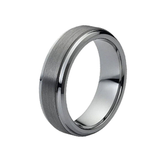 Stronger Together - Unisex Classic Brushed Flat Tungsten Ring