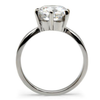 Timeless - A Breathtaking Stainless Steel Engagement Ring With A Cubic Zirconia 3.35 CT. Eq. Stone