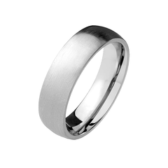 Timeless Vow - Unisex Solid Titanium Dome Ring with Brushed Finish
