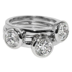 Treasured Trove - Set of Three Silver CZ Stackable Rings