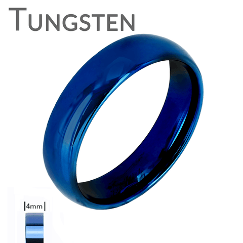 Blue Bayou 4mm  - FINAL SALE Tungsten Carbide 4mm Polished Traditional Wedding band