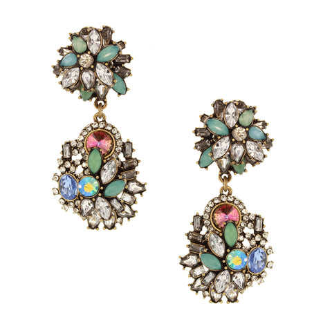 Olivia Welles - Scarlet Stone Earrings
